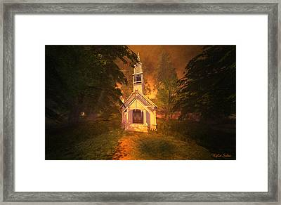 Framed Print featuring the digital art Family Chapel by Kylie Sabra