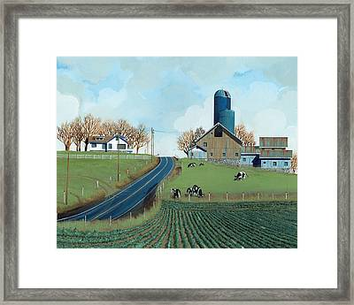 Family Dairy Framed Print by John Wyckoff
