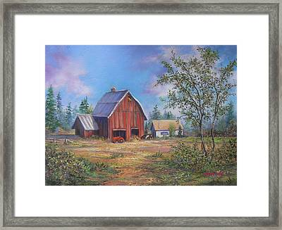 Family Farm  Framed Print