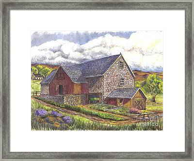 A Scottish Farm  Framed Print