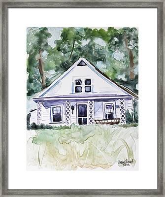 Family Farm Framed Print by Shaina Stinard