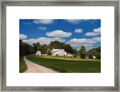 Family Farm Framed Print by Tom Mc Nemar
