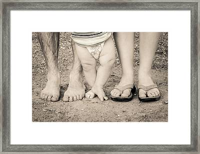 Family Feets Framed Print by Bill Pevlor