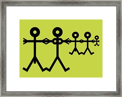 Family Icon Framed Print by Thisisnotme