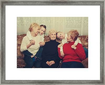 Family Framed Print by Laurie Search
