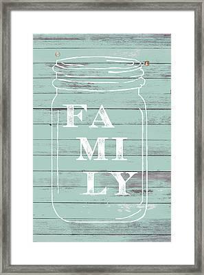 Family Mason Jar Framed Print