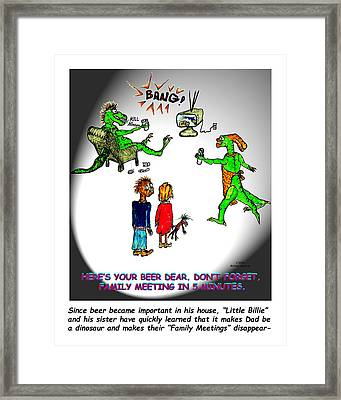 Family Meeting For Billie Framed Print