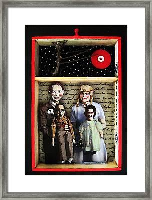 Family Mixed Media Collage Original Art Framed Print