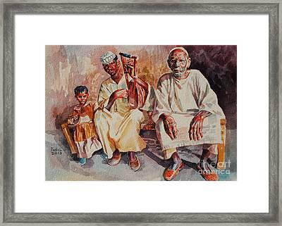 Family Framed Print by Mohamed Fadul