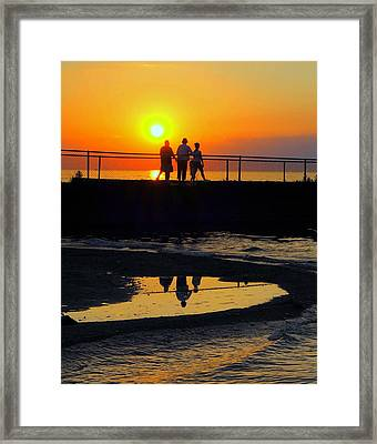 Family Moment Framed Print by Frozen in Time Fine Art Photography