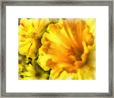 Family Of Flowers Framed Print by Anthony Caruso