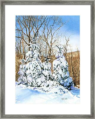 Family Of Four Trailside At 7 Springs Framed Print by Barbara Jewell