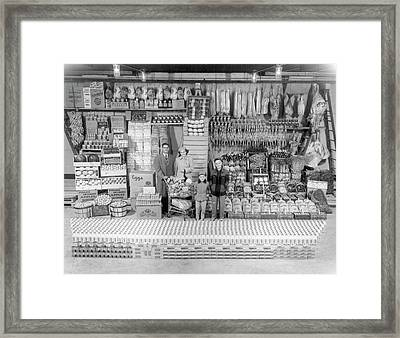Family Of Four's Yearly Food Supply Framed Print by Hagley Museum And Archive