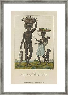 Family Of Negro Slaves Framed Print by British Library