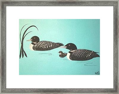 Framed Print featuring the painting Family Of Three by Cindy Micklos