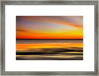 Family Outing - A Tranquil Moments Landscape Framed Print by Dan Carmichael
