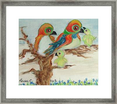 Family Outing. Framed Print
