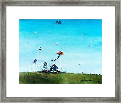 Family Outing Framed Print by Shana Rowe Jackson