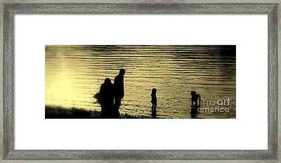 Family Paddle Framed Print by Linsey Williams