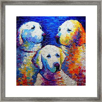 Family Portrait Framed Print by Mona Edulesco
