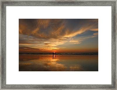 Family Reflections At Sunset - 2 Framed Print