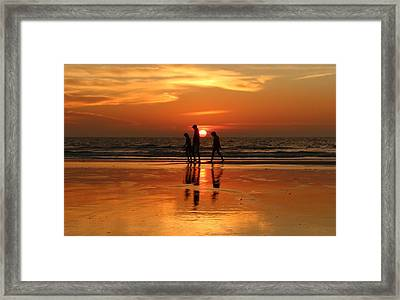 Family Reflections At Sunset - 1 Framed Print