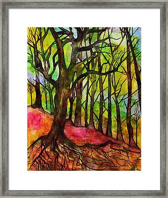 Family Roots Framed Print by Janet Immordino