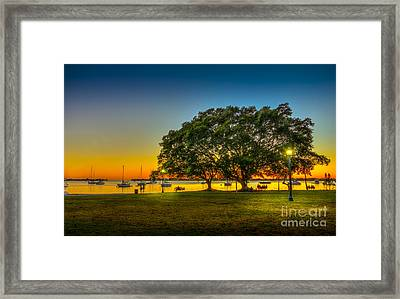 Family Sunset Framed Print by Marvin Spates