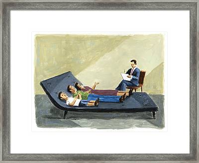 Family Therapy Framed Print