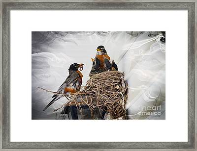 Family Time Framed Print by Robert Pearson