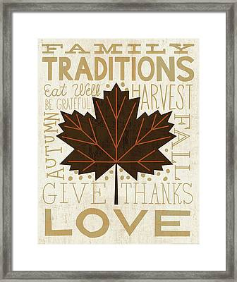 Family Tree Leaf I Framed Print