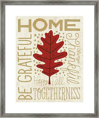 Family Tree Leaf II Framed Print