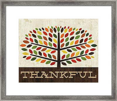 Family Tree - Thankful Framed Print