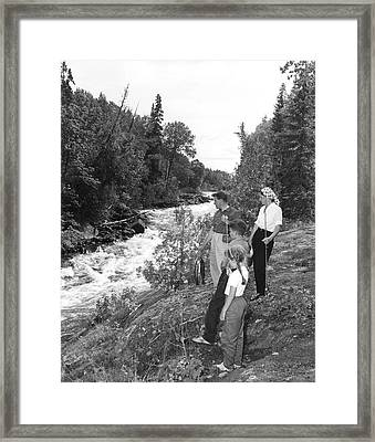 Family Trout Fishing Framed Print