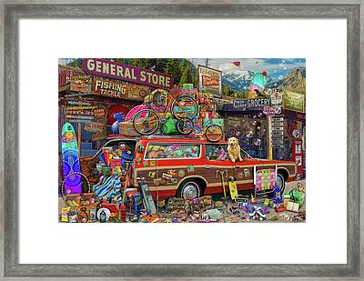 Framed Print featuring the drawing Family Vacation by Aimee Stewart
