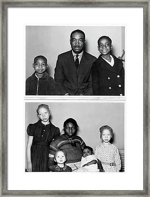 Family With Children With Albinism Framed Print by American Philosophical Society