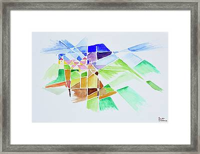 Famous Apartment Building Designed Framed Print