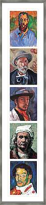 Famous Artists  Framed Print by Tom Roderick