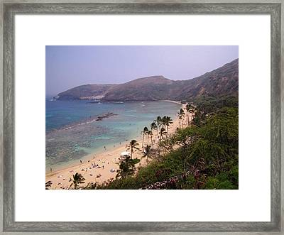 Famous Beach In Hawaii Framed Print