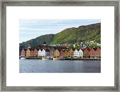 Famous Bryggen Bergen Norway Framed Print