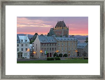 Famous Chateau Frontenac In Quebec City Framed Print by Juergen Roth