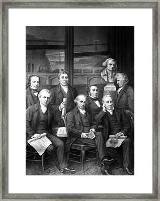 Famous Engineers Framed Print by Granger