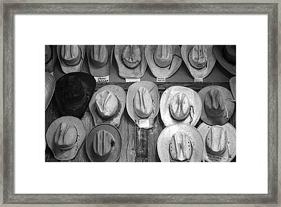 Famous Hats Framed Print
