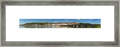 Famous Hotel-restaurant In A Town Framed Print