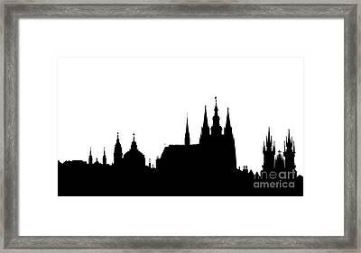 famous landmarks of Prague Framed Print