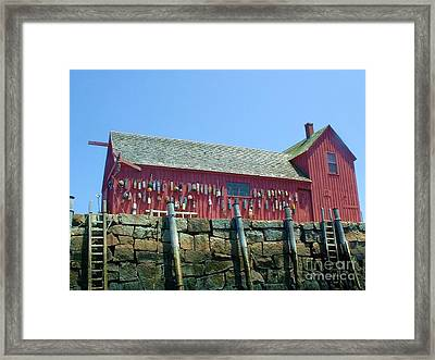 Framed Print featuring the photograph Famous Photographers Landmmark Rockport Ma by Mary Lou Chmura