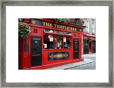 Famous Temple Bar In Dublin Framed Print
