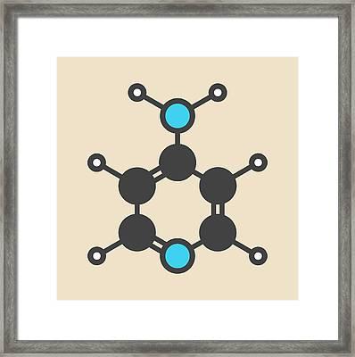 Fampridine Drug Molecule Framed Print by Molekuul