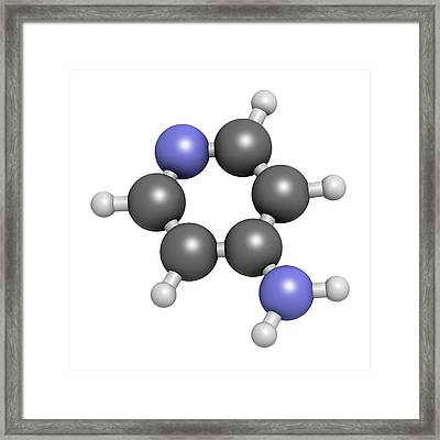Fampridine Multiple Sclerosis Drug Framed Print by Molekuul