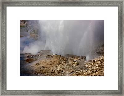 Fan And Mortar Erupt Framed Print